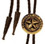 24ct Gold Plated The State of Texas Lone Star Bolo Tie. Code BTWW10G